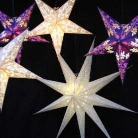 Décoration étoiles lumineuses - Violet