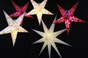 Décoration étoiles lumineuses - Rouge