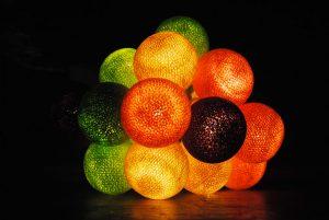 Guirlande de boules lumineuses