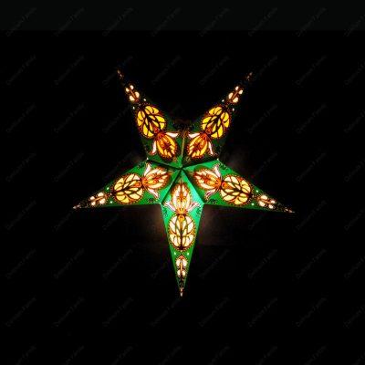 Etoile lumineuse Arabesque vert