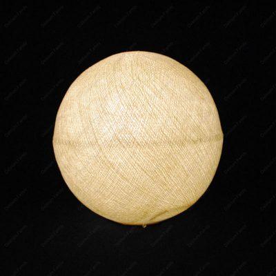 Globe lumineux beige
