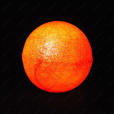 Globe lumineux orange