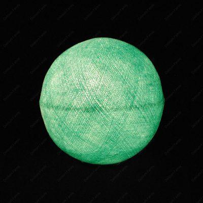 Globe lumineux turquoise
