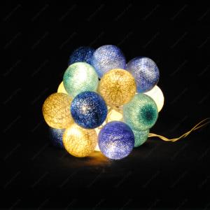 Guirlande de boules de coton Hiver